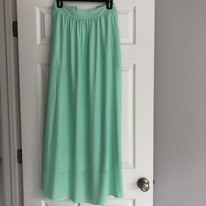 Pink Lily Mint Summer Maxi Skirt NWT Layered